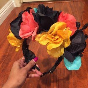 Coachella festival flower crown